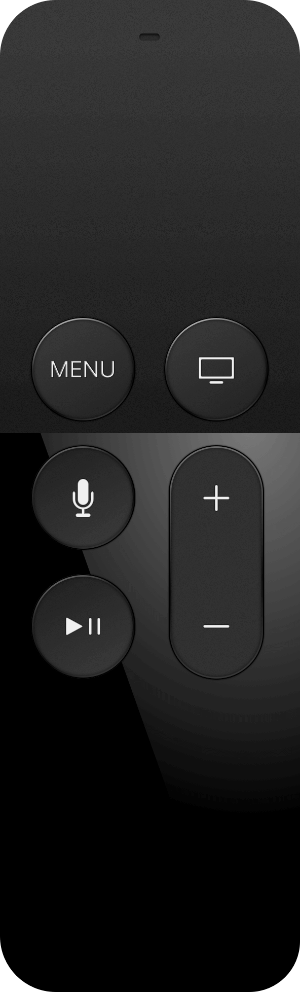 apple TV remote for use with dental waiting room tv